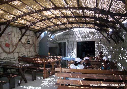 Restaurant @ Bilin Zal beach in Lumbarda