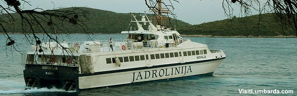 From Hvar to Korcula Island and Lumbarda by ferry