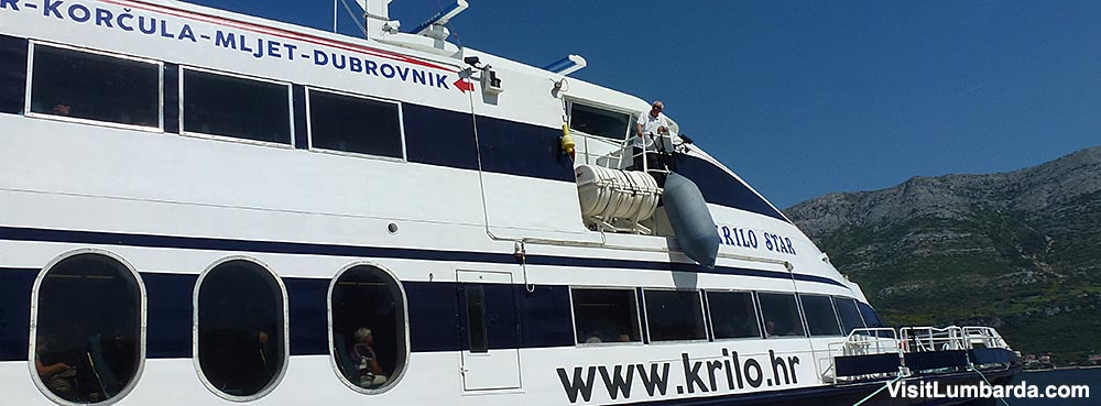 By Ferry From Mljet to Korcula Island and Lumbarda