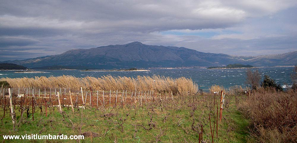 Views over local archipelago and Sveti Ilija mountain on Peljesac