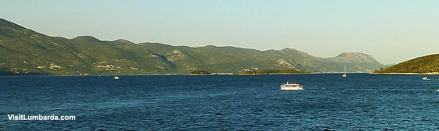 Getting from Korcula Town to Lumbarda by boat