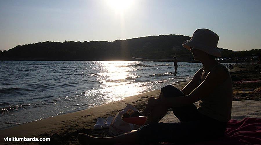Sunset @ Vela Przina beach in Lumbarda